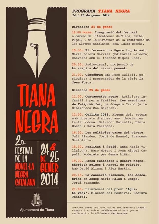 Programa Festival Tiana Negra 2014